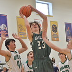 Wyatt Schumacher looks for a lay up. Mike Dunn | The Sheridan Press