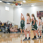Ashleigh Snoozy | The Sheridan PressTongue River's Sadie Koltiska (42) shoots a free throw after being fouled by a Big Horn opponent Saturday, Jan. 18, 2020.