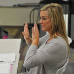 Ryan Patterson   The Sheridan PressInstructor Amber Townsend signs during an American Sign Language 3 class at the Sheridan College Mars Agriculture Center Thursday, Oct. 18, 2018. The clas ...