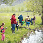 Matthew Gaston | The Sheridan PressKindergarteners from Big Horn Elementary went out to Wilson Reservoir to go fishing with volunteers from the Lions Club Thursday, May 23, 2019.