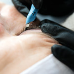 Matthew Gaston | The Sheridan PressFor cosmetic tattoos, Paige Pozos, uses the Japanese method of Tebori. Tebori is the practice of hand poking the tattoo as seen here. Pozos is also a licen ...