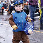 Matthew Gaston | The Sheridan PressTwo-year-old Ethan Bates, dressed as Chase from the PAW Patrol, sniffs out the best candy during Fremont Motors trunk-or-treat event Thursday, Oct. 31, 201 ...