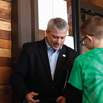 Matthew Gaston | The Sheridan PressSheridan Mayor Roger Miller interacts with students from Henry A. Coffeen Elementary School at the Sheridan Visitors Center Friday, Jan. 11, 2019.