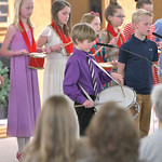 "Matthew Gaston | The Sheridan PressLucas Morris plays the snare drum and sings a solo during a performance of ""Little Drummer Boy"" at the Holy Name Christmas Concert Wednesday, Dec. 11,  ..."