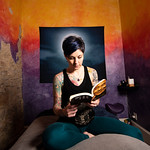 Matthew Gaston | The Sheridan PressAsia Stockwell reads a book in her massage studio in attempt to maintain her sanity during the COVID-19 pandemic Wednesday, April 1, 2020. Stockwell strugg ...