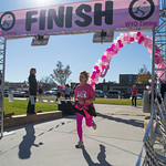 Ashleigh Fox | The Sheridan PressBillie Claflin finishes The Link — Partners in Pink 5K run Saturday, Oct. 20, 2018. Proceeds for the event go to early cancer detection and screening for p ...