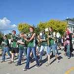 Justin Sheely | The Sheridan Press Tongue River Middle School and High School band members march during the Tongue River High School Homecoming Parade on Friday in Dayton.