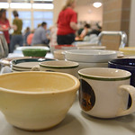 Justin Sheely | The Sheridan Press Various bowls are displayed during the Soup Bowl fundraiser Tuesday evening at Tongue River High School. The event supports the Tongue River Community Cupb ...