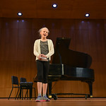 Justin Sheely | The Sheridan Press Woodland Park fifth-grader Gabi Wright introduces her songs during the Composers' Concert Wednesday in the Whitney Concert Hall at Sheridan College. Musi ...