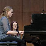 Justin Sheely | The Sheridan Press Sheridan College music student Rosborg Hallsdorsdottir plays a song written by a fifth-grade student during the Composers' Concert Wednesday in the Whitn ...
