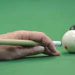 Justin Sheely | The Sheridan Press A player aims for the eight ball during the pool tournament Wednesday morning at the Sheridan Senior Center. The Sheridan Senior Center and the Tongue Rive ...