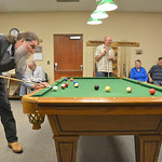 Justin Sheely | The Sheridan Press Ed Miech lines up a shot during the pool tournament Wednesday morning at the Sheridan Senior Center. The Sheridan Senior Center and the Tongue River Valley ...