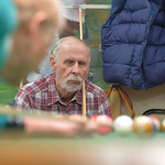 Justin Sheely | The Sheridan Press Daryl Jennings watches as his opponent lines up a shot during the pool tournament Wednesday morning at the Sheridan Senior Center. The Sheridan Senior Cent ...