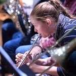 Justin Sheely | The Sheridan Press Rosborg Holldorsdottir practices on her trumpet during a rehearsal Sunday for Handel's Messiah in the Whitney Center for the Arts concert hall at Sherida ...