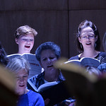 Justin Sheely | The Sheridan Press Sheridan College choir members Mallory Arneson, 15, and Becki Arneson sing during a rehearsal Sunday for Handel's Messiah in the Whitney Center for the A ...