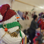 Justin Sheely | The Sheridan Press A snowman looks over the room during the Mountain Craft Bazaar Saturday at the Ranchester Municipal Building.