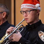 Justin Sheely | The Sheridan Press Music student Johnny Ross plays the trumpet during the Sheridan College Jazz Ensemble's Christmas Swing concert Thursday in the Whitney Center for the Ar ...