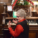 Justin Sheely | The Sheridan Press Cathy Storm visits with guests between songs during the Holiday Open House at the Trail End State Historic Site Friday evening. Festivities at site, also c ...