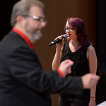 "Justin Sheely | The Sheridan Press Student vocalist Rebecca Flanders sings ""Santa Claus is Comin' to Town"" during the Sheridan College Jazz Ensemble's Christmas Swing concert Thursda ..."