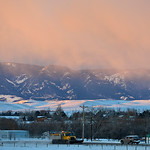 Justin Sheely | The Sheridan Press The sunrise highlight the Bighorn Mountains Wednesday morning in Sheridan. The rest of the week is expected to remain sunny with chance of snow Friday nigh ...