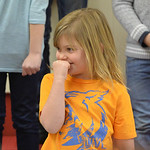 Justin Sheely | The Sheridan Press Megan Varah pauses between songs during the Kids Chorus program Thursday at the YMCA. The program is offered for kids Kindergarten through third grade to l ...