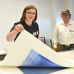 Justin Sheely | The Sheridan Press Campbell County student Anneliese Schnabel lifts her print from the printing press during a printmaking workshop led by renowned artist Theodore Waddell We ...