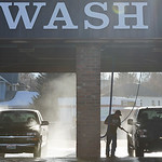 Justin Sheely | The Sheridan Press People wash their vehicles Thursday afternoon on Coffeen Avenue. Sheridan residents have been enjoying warmer weather and drier roads. The rest of the week ...