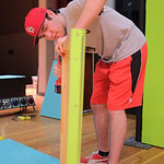 "Justin Sheely | The Sheridan Press Sheridan theater student Race Johnston drills a hole into a stage piece during set construction Saturday morning for the upcoming play ""Bye Bye Birdie"" ..."