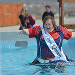 Justin Sheely | The Sheridan Press Tahia Grosch makes her way to the exit ladder during the annual Jackalope Jump Saturday at Goose Valley Fire Department. Special Olympics athletes, law enf ...