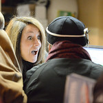 Justin Sheely | The Sheridan Press WYO Theater employee Pam Overton sells tickets to one of the first customers in line on the opening day for Sheridan WYO Rodeo ticket sales Friday morning  ...