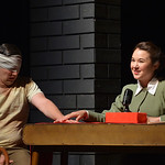 Justin Sheely | The Sheridan Press Ryan Neely as an American POW reacts to Japanese radio host Megumi Haggerty as her broadcast is intercepted by Cora Reed during the Wyoming Theater Festiva ...