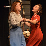 Justin Sheely | The Sheridan Press Eva Kaminsky as Cora Reed dances with her friend of Japanese heritage Tomoko Kurahara, played by Megumi Haggerty, during the Wyoming Theater Festival's p ...