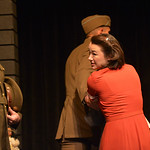 Justin Sheely | The Sheridan Press Ryan Neely as Captain John Walsh looks on as Tomoko Kurahara, played by Megumi Haggerty, is arrested and moved to Heart Mountain because of her Japanese he ...