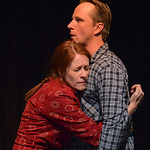 "Justin Sheely | The Sheridan Press Eva Kaminsky as Cora Reed embraces George Reed, played by Todd Lawson, during the Wyoming Theater Festival's presentation of ""East of Heart Mountain"" ..."