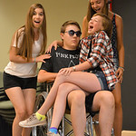 Justin Sheely | The Sheridan Press Kelly Buchanan, as the body of Mr. Hendon, sits in a wheelchair as southern ladies, from left, Sierra McCoy, Ricci Redman and Mallory Arneson sing during a ...