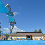Justin Sheely | The Sheridan Press Seven-year-old Afton Cummins dives into the pool during swimming lessons Thursday at the public pool in Dayton. The swim lessons are offered by the town of ...
