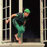 "Justin Sheely | The Sheridan Press Peter Pan, by Tomy Phillips, enters the nursery to find his shadow during a rehearsal Tuesday for the Tandem Productions presentation of Disney's ""Pete ..."