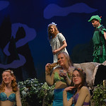 Justin Sheely | The Sheridan Press Wendy and Peter Pan, by Rowan Heil and Tomy Phillips, look down on a group of mermaids during a rehearsal Tuesday for the Tandem Productions presentation o ...