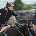 Justin Sheely | The Sheridan Press Mariah McFaul competes in senior pole bending during the Young Riders Rodeo Saturday at the Sheridan County Fairgrounds.