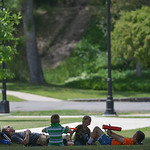 Justin Sheely | The Sheridan Press A family takes a break from the heat under a tree Tuesday in Kendrick Park. Sheridan reached high temperature of 104 Tuesday afternoon breaking the record  ...