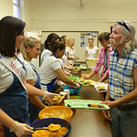 Justin Sheely | The Sheridan Press Miss Southwest Chelsea Price serves Wayne Glick during the 2016 Miss Wyoming service time at the soup kitchen in the basement of First Congregational Churc ...