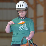 Justin Sheely | The Sheridan Press CHAPS client Stormy Vigil rides her horse for an egg-in-spoon competition during the CHAPS Spring Horse Show Wednesday at CHAPS. CHAPS – Children, Horses ...