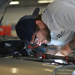 Justin Sheely | The Sheridan Press Diesel mechanic Daniel Zent works on a friends car for time in his skills class during the Industrial Technology Programs Demo Day Wednesday in the Technic ...