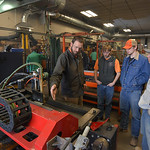 Justin Sheely | The Sheridan Press Welding instructor Time Anderson, left, shows high school students the computer-controlled plasma torch during the Industrial Technology Programs Demo Day  ...
