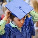 Justin Sheely | The Sheridan Press Easton Veal adjusts his cap during The Children's Center Preschool twelfth-annual graduation Thursday night at Sheridan Wesleyan Church. The Children's ...