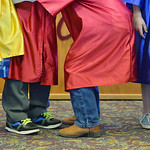 Justin Sheely | The Sheridan Press Preschool graduates wait in the lobby during The Children's Center Preschool twelfth-annual graduation Thursday night at Sheridan Wesleyan Church. The Ch ...