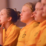 Justin Sheely | The Sheridan Press Youth Chorale member Sarah Gonda watches from the seats as the Children's Chorale perform during the Sheridan County Youth and Children's Chorale Tuesd ...