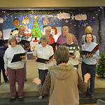 Justin Sheely | The Sheridan Press Sheridan Aires Choir members sing during practice Tuesday for the Magic of Christmas show at the Sheridan Senior Center. The Magic of Christmas choir will  ...