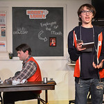 Justin Sheely | The Sheridan Press Addison Dugal, as Alex, right, recites an ironic composition to David Myers, as Will, during a dress rehearsal Wednesday night for the Sheridan Civic Theat ...