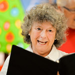 Justin Sheely | The Sheridan Press Sheridan Aires Choir member Sharon Rasmussen sings during practice Tuesday for the Magic of Christmas show at the Sheridan Senior Center. The Magic of Chri ...